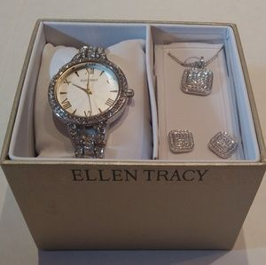 Ellen Tracy Accessories - SALE! Ellen Tracy watch with necklace and earrings